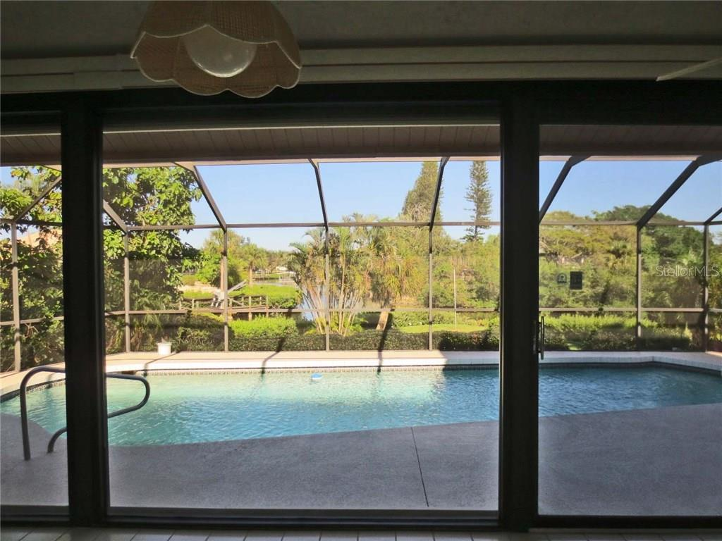 View from inside - Villa for sale at 132 Inlets Blvd #132, Nokomis, FL 34275 - MLS Number is N5914693