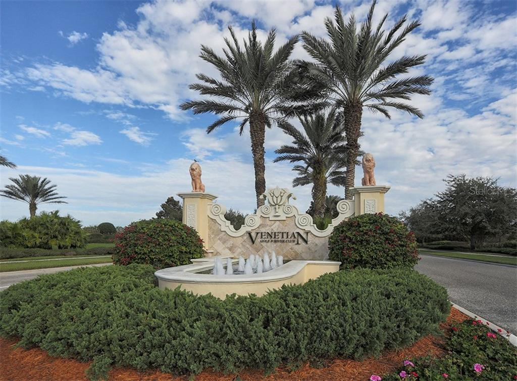 Community sign - Single Family Home for sale at 221 Portofino Dr, North Venice, FL 34275 - MLS Number is N5914925