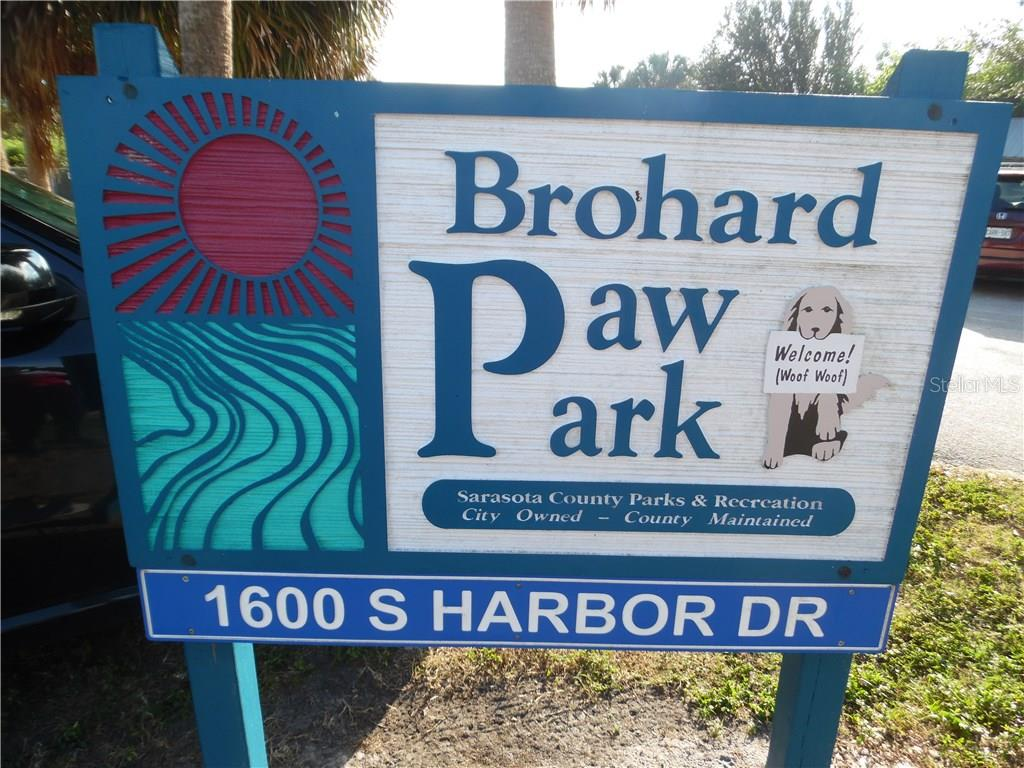 Paw Park at Brohard Beach.  not many beach parks for dogs anywhere in Florida. - Single Family Home for sale at 441 Baynard Dr, Venice, FL 34285 - MLS Number is N5915507