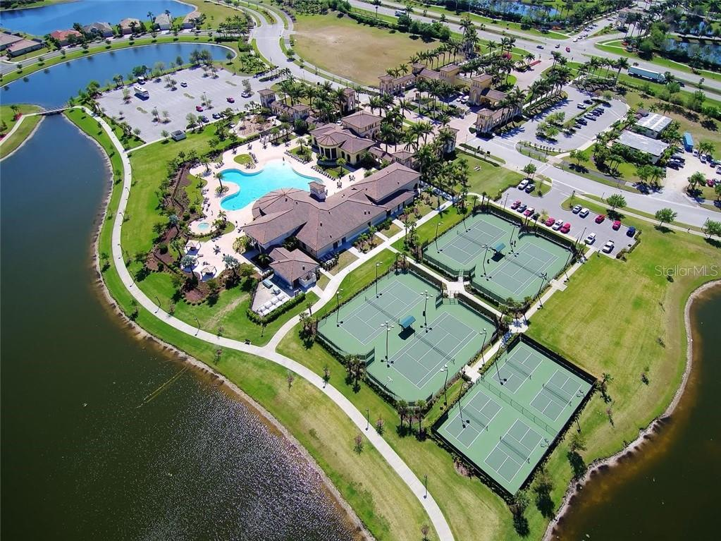 Aerial of community amenities - Condo for sale at 20140 Ragazza Cir #101, Venice, FL 34293 - MLS Number is N6100993