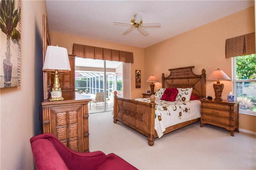 Master Bedroom. - Single Family Home for sale at 837 Carnoustie Dr, Venice, FL 34293 - MLS Number is N6101166