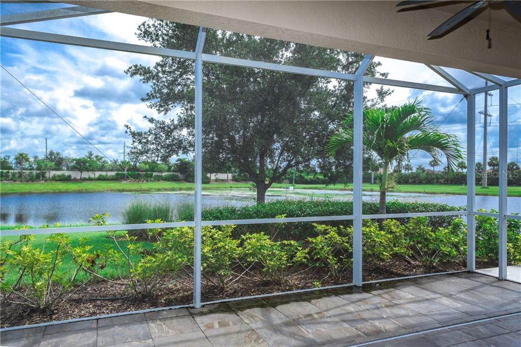 Extended Lanai with Lake View - Single Family Home for sale at 2290 Terracina Dr, Venice, FL 34292 - MLS Number is N6101301