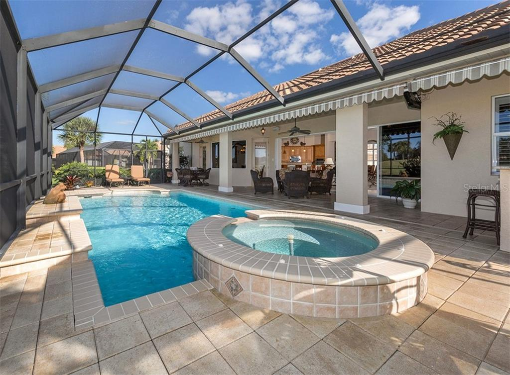 Pool, lanai - Single Family Home for sale at 110 Martellago Dr, North Venice, FL 34275 - MLS Number is N6103159