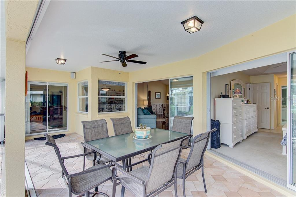 Covered Lanai - Single Family Home for sale at 531 Pennyroyal Pl, Venice, FL 34293 - MLS Number is N6103229