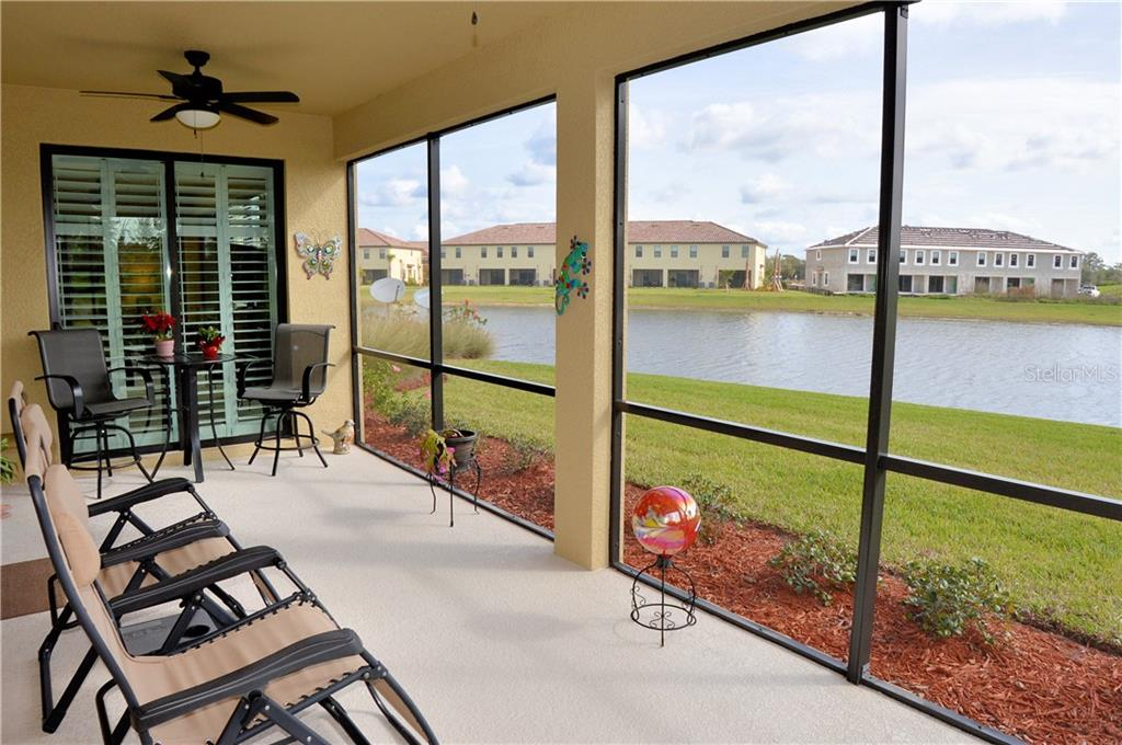Lanai with sliders to master bedroom - Condo for sale at 20140 Ragazza Cir #102, Venice, FL 34293 - MLS Number is N6103394