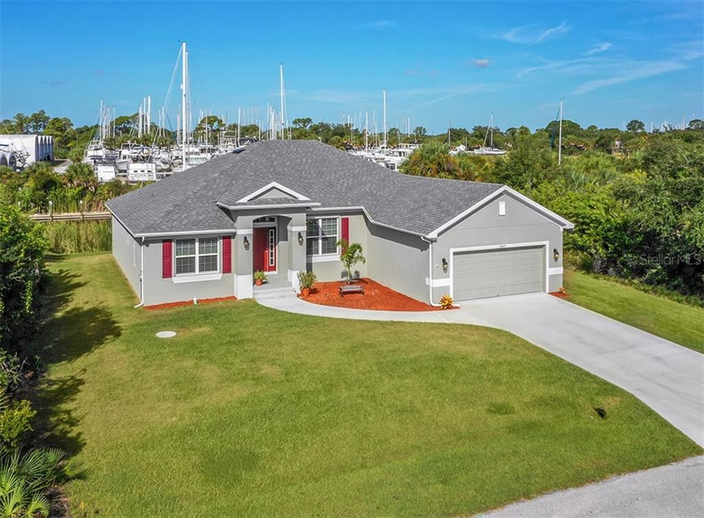 Aerial, front elevation - Single Family Home for sale at 10449 Redondo St, Port Charlotte, FL 33981 - MLS Number is N6107406