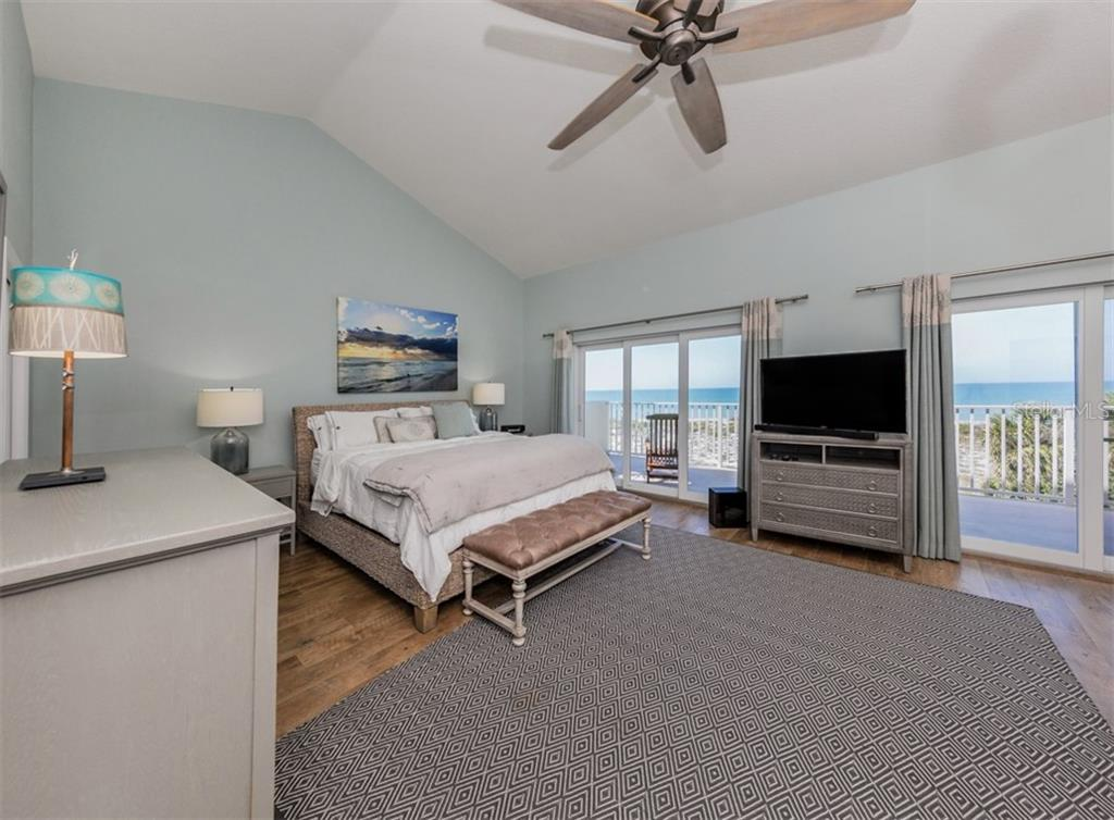 Master bedroom with sliders to balcony - Condo for sale at 840 Golden Beach Blvd #840, Venice, FL 34285 - MLS Number is N6108717