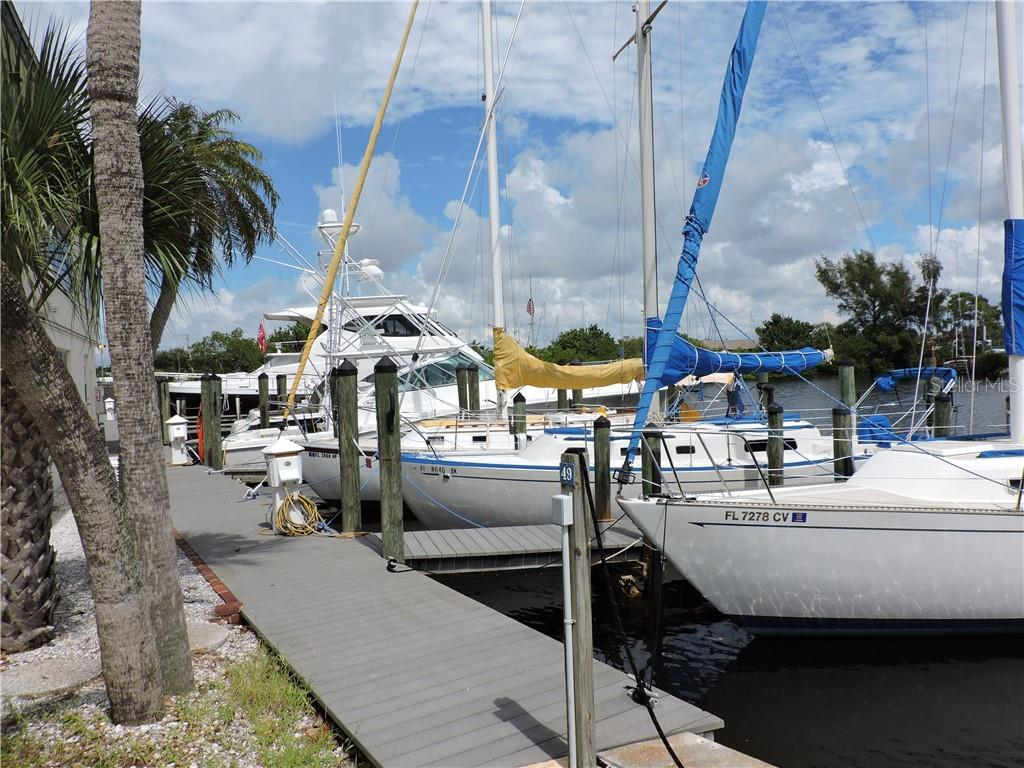 Great Marina with plenty of rental slips - Condo for sale at 1041 Capri Isles Blvd #121, Venice, FL 34292 - MLS Number is N6112042