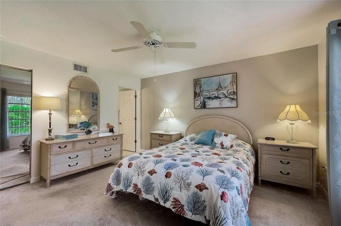 Master bedroom - Condo for sale at 1041 Capri Isles Blvd #105, Venice, FL 34292 - MLS Number is N6114557