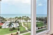 View of gulf from living room - Condo for sale at 500 The Esplanade N #402, Venice, FL 34285 - MLS Number is N6100557