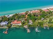 Aerial showing deeded beach access - Single Family Home for sale at 2208 Casey Key Rd, Nokomis, FL 34275 - MLS Number is N6110959