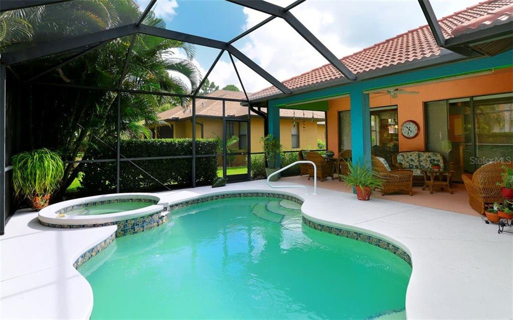 Beautiful Pool/Spa area for entertaining and relaxing - Single Family Home for sale at 1141 Arbroid Dr, Englewood, FL 34223 - MLS Number is D6101353