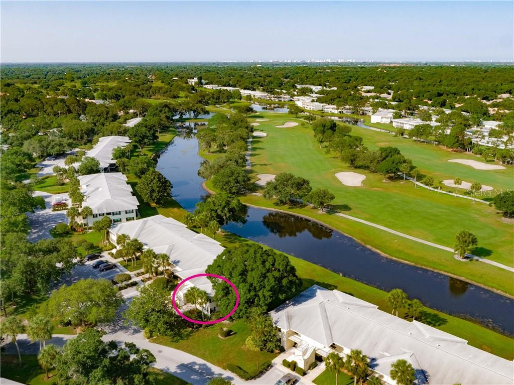 Aerial Side - Condo for sale at 7070 Fairway Bend Ln #169, Sarasota, FL 34243 - MLS Number is W7807848