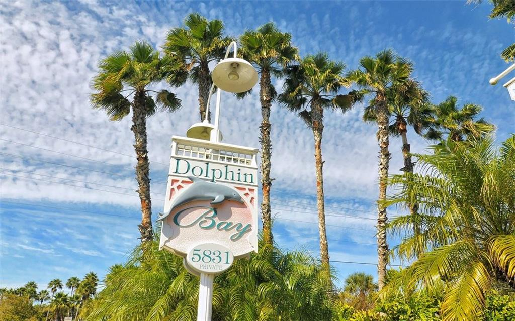Community entrance - Condo for sale at 1260 Dolphin Bay Way #401, Sarasota, FL 34242 - MLS Number is A4173008