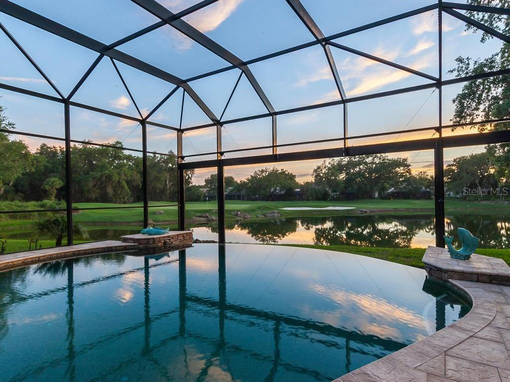 The view never disappoints, whether during the day or the evening. - Single Family Home for sale at 12312 Newcastle Pl, Lakewood Ranch, FL 34202 - MLS Number is A4403090