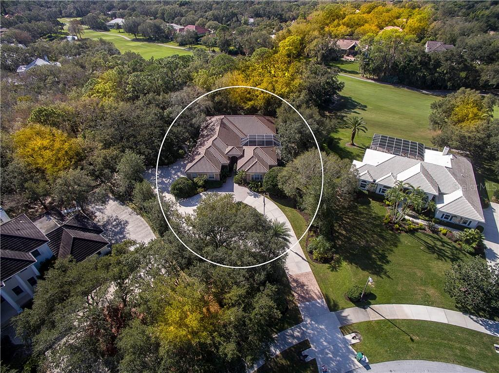 Overhead View - what an incredible lot on 1.25 acres. - Single Family Home for sale at 2972 Jeff Myers Cir, Sarasota, FL 34240 - MLS Number is A4424133