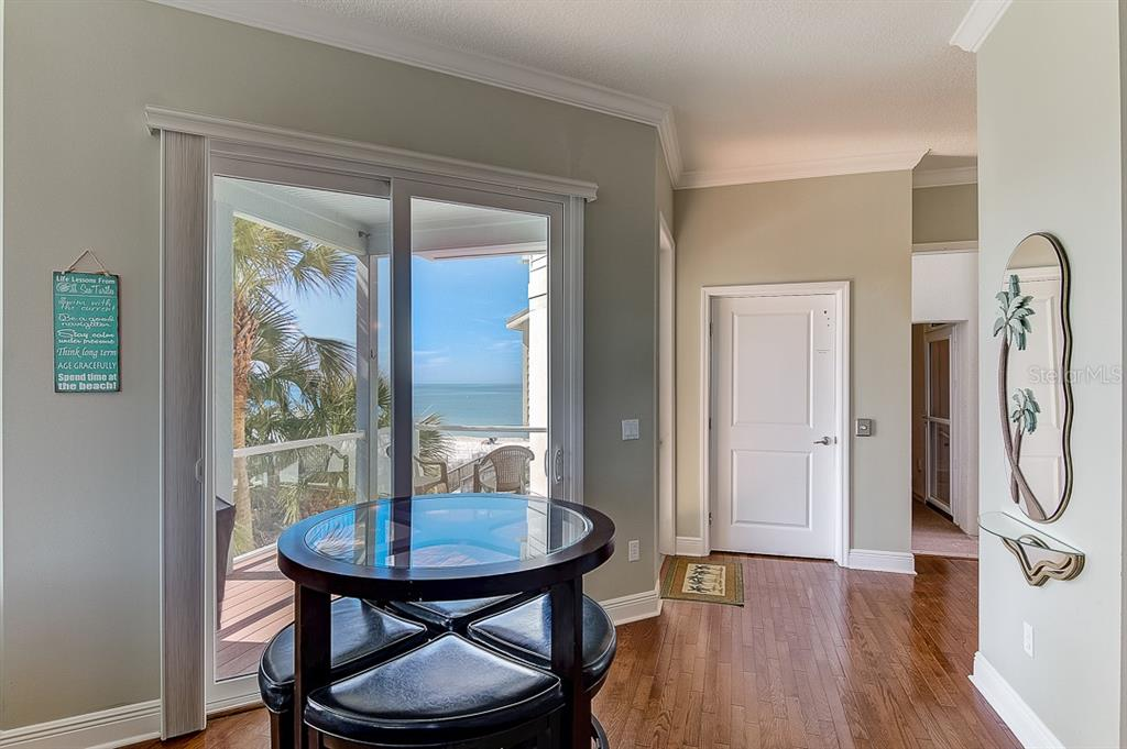 East Dining Area with Gulf Views - Duplex/Triplex for sale at 2500 Gulf Dr N, Bradenton Beach, FL 34217 - MLS Number is A4424506