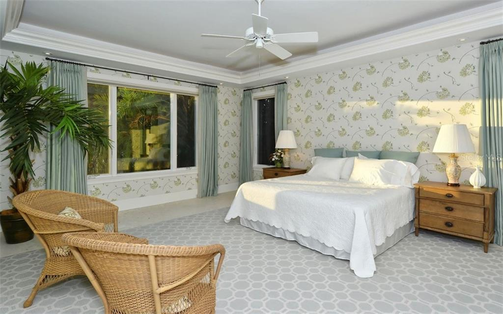 First floor master suite - Single Family Home for sale at 65 Lighthouse Point Dr, Longboat Key, FL 34228 - MLS Number is A4438181