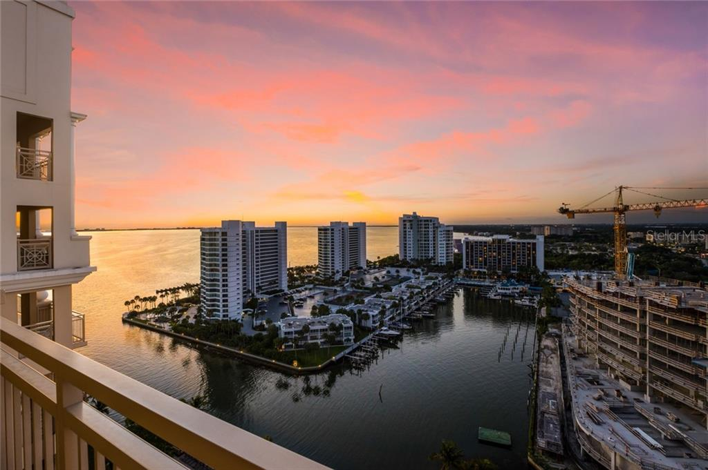 View from the large balcony just outside of the library/den - Condo for sale at 1111 Ritz Carlton Dr #1704, Sarasota, FL 34236 - MLS Number is A4442192