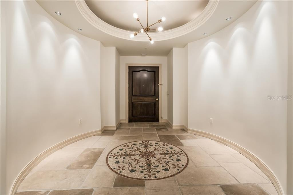 The grand foyer entrance to your penthouse - Condo for sale at 1111 Ritz Carlton Dr #1704, Sarasota, FL 34236 - MLS Number is A4442192