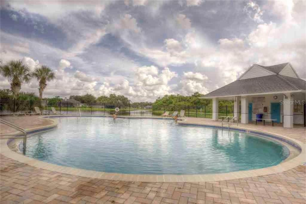Creekwood Community Pool for residents to enjoy- - Single Family Home for sale at 5109 76th St E, Bradenton, FL 34203 - MLS Number is A4443335