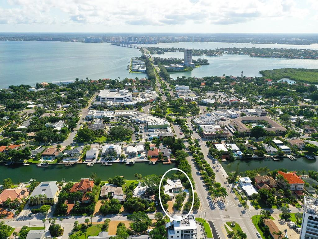 Waterway Behind Home - Single Family Home for sale at 225 John Ringling Blvd, Sarasota, FL 34236 - MLS Number is A4443640